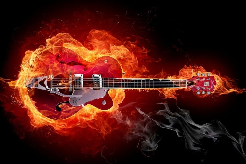 rock guitar HD wallpaper