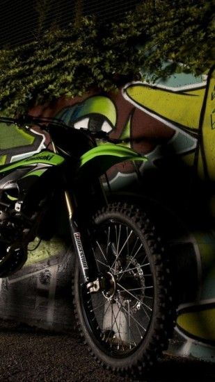 Kawasaki Dirt Bike Samsung S4 Wallpaper