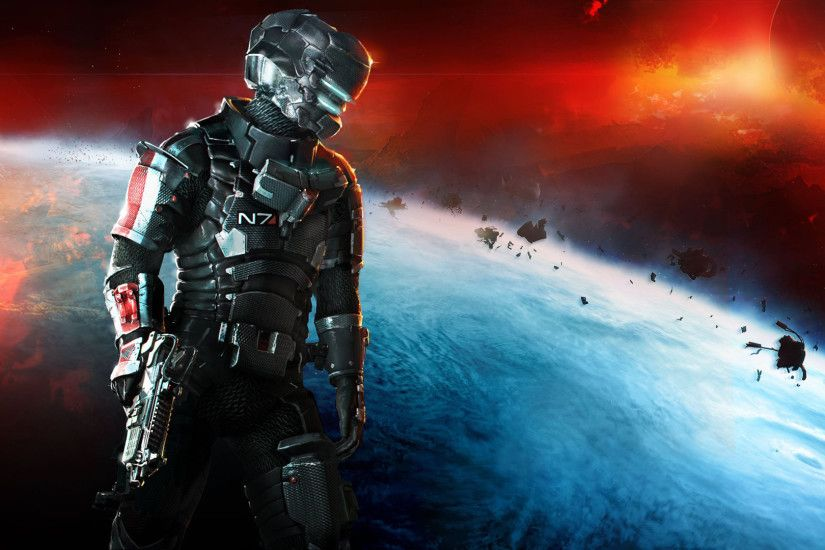Dead Space 3 Mass Effect N7 Armor Wallpapers