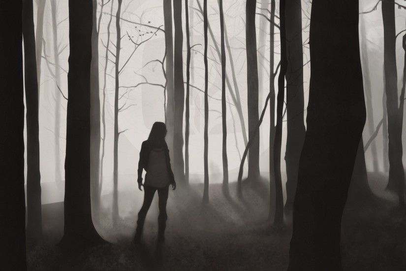 Dark Forest Girl Alone Wallpaper At Dark Wallpapers
