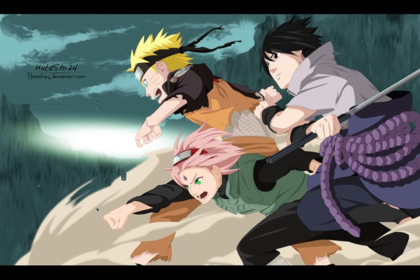 Naruto Shippuden Wall Scroll - Naruto, Sasuke & Sakura Key Art ..