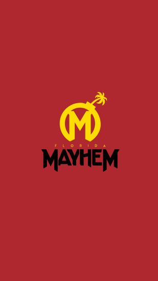 Overwatch League Florida Mayhem Phone Wallpaper #OverwatchLeague  #FloridaMayhem