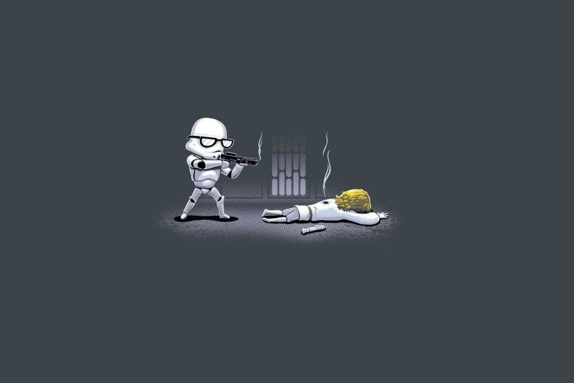 Star Wars Minimalistic Guns Stormtroopers Lightsabers Glasses Luke  Skywalker Ownage Pictures Free