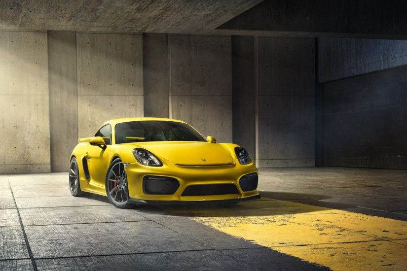 Porsche Cayman GT4 on Garage Wallpaper Wallpaper