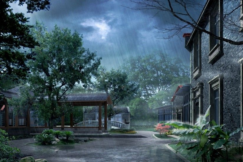Japan Digital Rain Fall wallpapers Wallpapers) – Wallpapers For Desktop