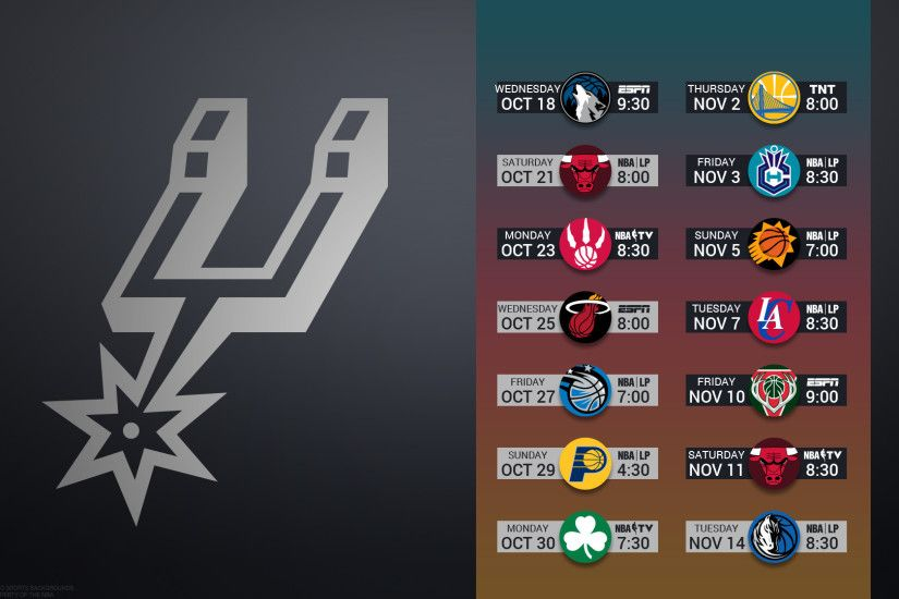 San Antonio Spurs 2017 schedule NBA BASKETBALL logo wallpaper free pc  desktop computer ...