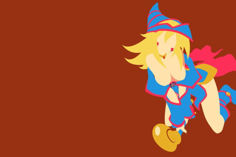 ... YuGiOh - Dark Magician Girl minimalism wallpaper by Carionto