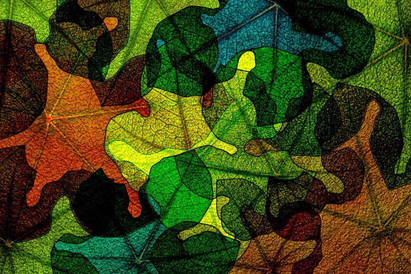 Abstract Leaves, HD Widescreen Photo, Muna Faraday