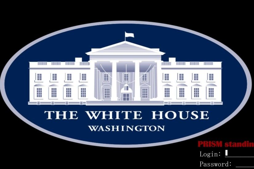US WhiteHouse Logo + PRISM-login
