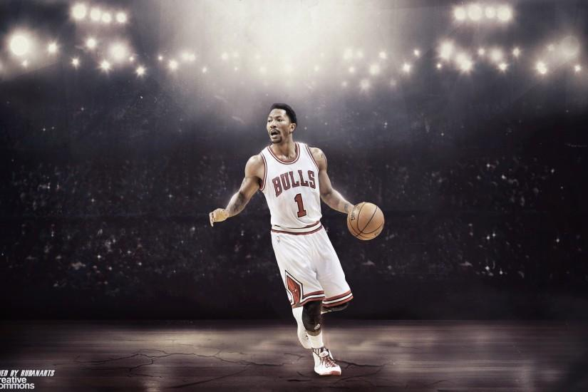 Derrick Rose Wallpaper by rubanarts Derrick Rose Wallpaper by rubanarts