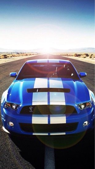 Sunshine Road Blue Cool Car #iPhone #6 #plus #wallpaper