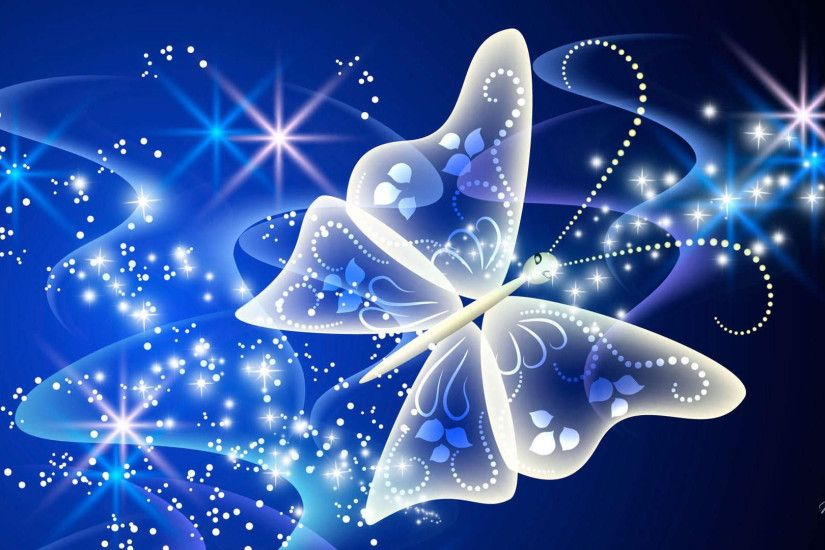 Butterfly Magical Radiance Background Download Button