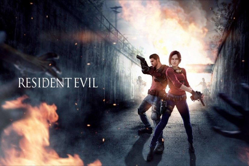 Preview wallpaper resident evil, claire redfield, chris redfield 3840x2160