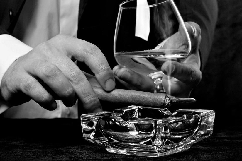 People 1920x1080 classy cigars monochrome alcohol men