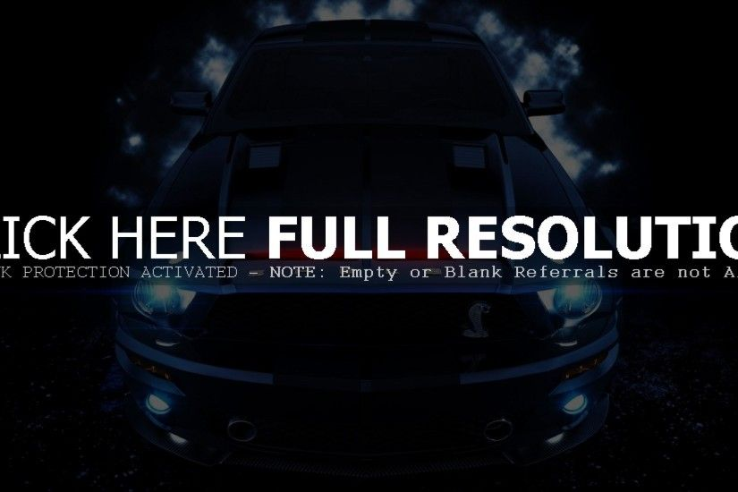 COOL FORD MUSTANG SHELBY GT DESKTOP WALLPAPER