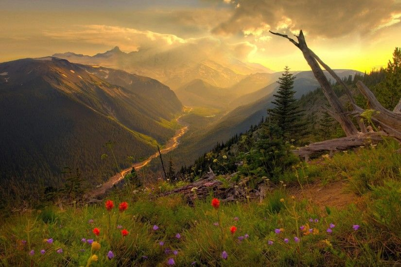 download high definition scenery beautiful mountain background
