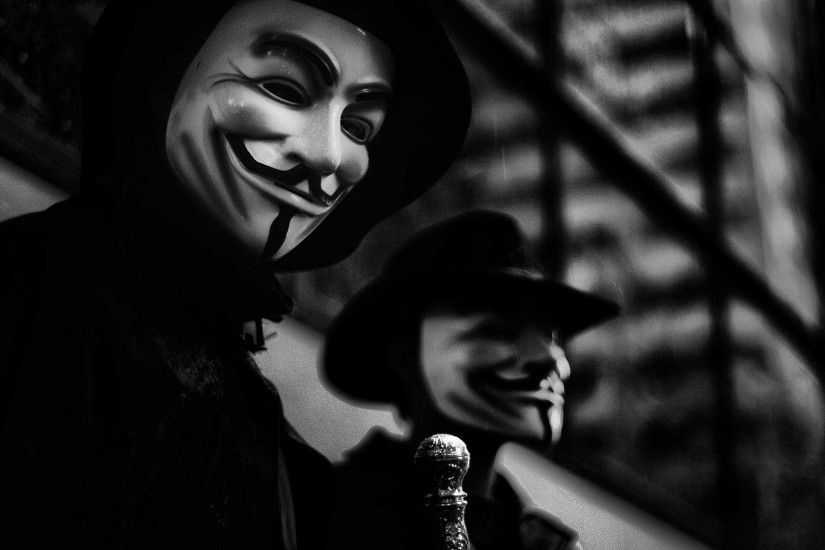 V for Vendetta Black and White HD Wallpapers