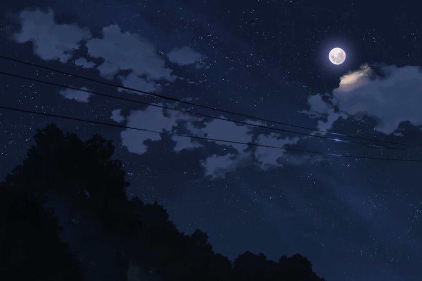 Anime Night Sky Background Download anime night sky wallpaper 5776 #7045