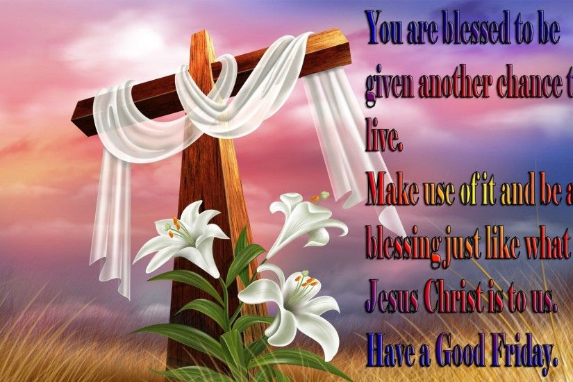 happy good friday greeting card wallpaper