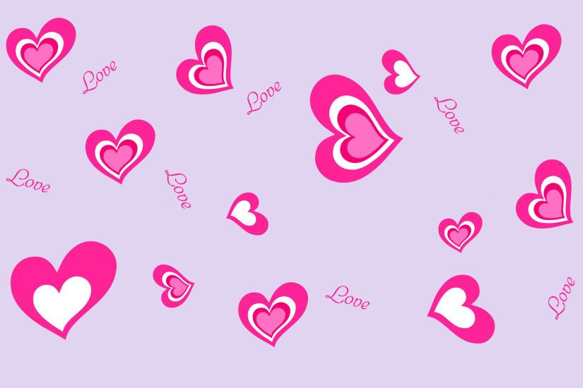 Girly Lovely Hearts Cool Twitter Background