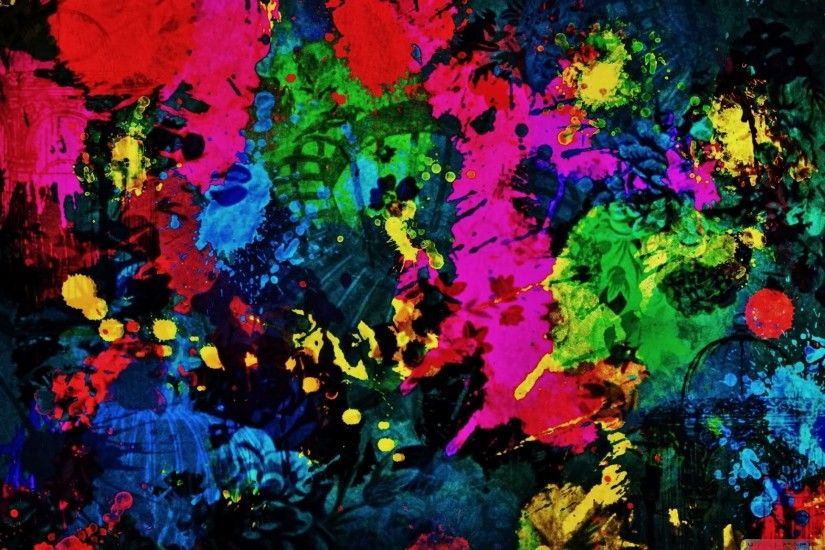 Gallery of Paint Splatter Wallpaper
