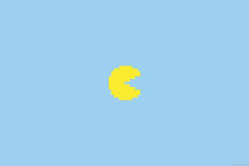 Yellow Pixel Pacman for 2560x1600