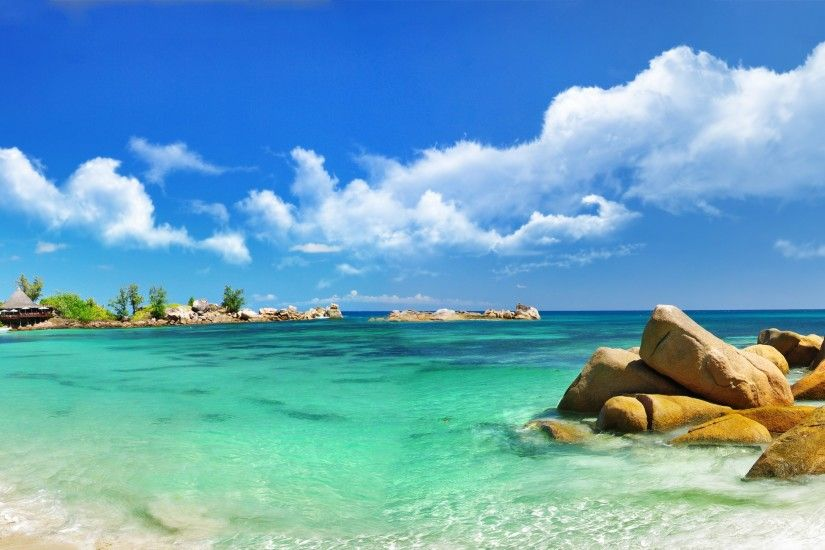 Sky Clouds Sea Paradise Wallpaper Beach Download