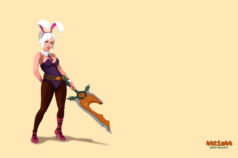 Battle Bunny Riven Wallpaper by 44tim44 Battle Bunny Riven Wallpaper by  44tim44