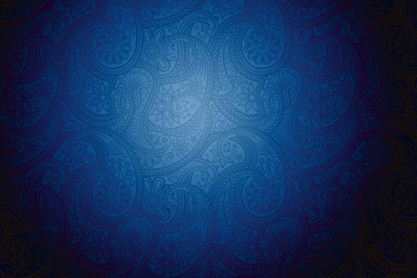 Artistic Blue Pattern Background with Modern Batik Motive - HD Wallpapers