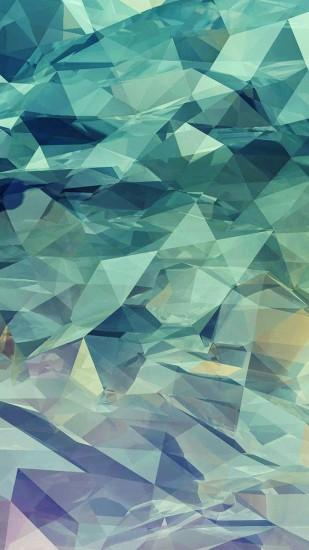 Low Poly Turquoise Triangles Android Wallpaper ...