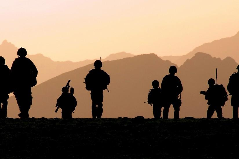 military, Silhouette, Royal Marines Wallpaper HD