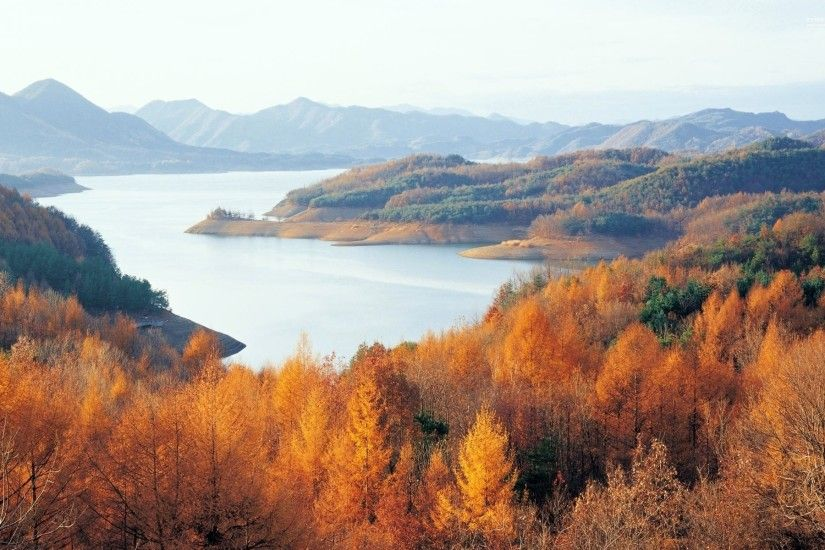Chungjuho Lake South Korea wallpapers and stock photos