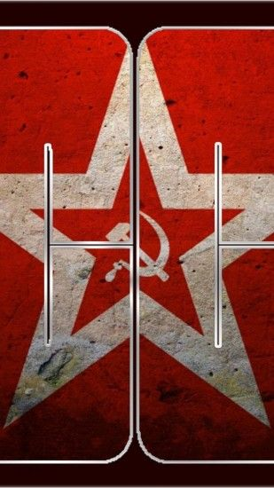 Android wallpaper download Country Flags 1080x1920  red_stars_cccp_flags_urss_russian_dark_soviets