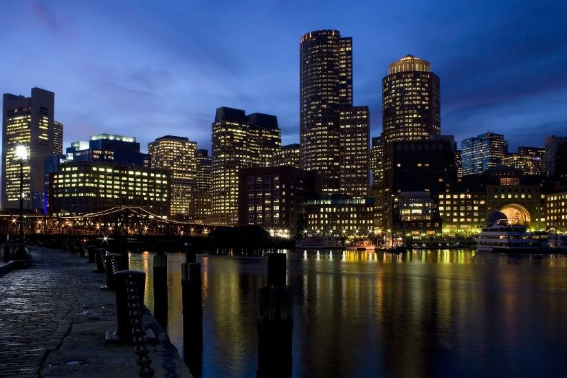 Download Wallpaper boston, city landscape, comfort, river, solitude,  silence, tranquility