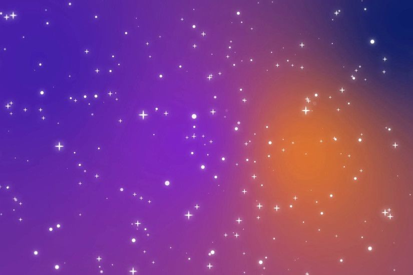 Night sky full of stars animation made of sparkly light star particles  moving across a purple blue orange gradient background Motion Background -  ...