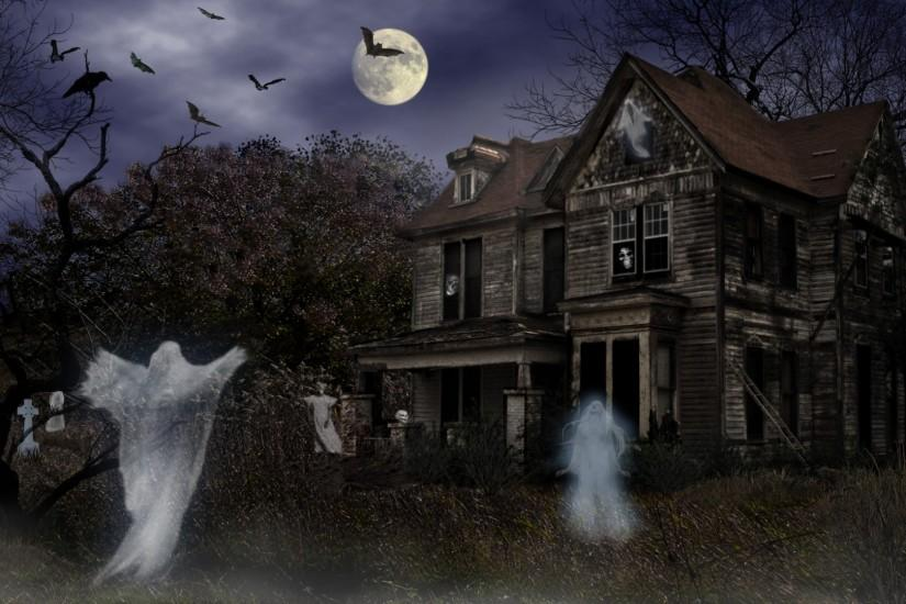 Spirits-Halloween-Haunted-House-Wallpapers