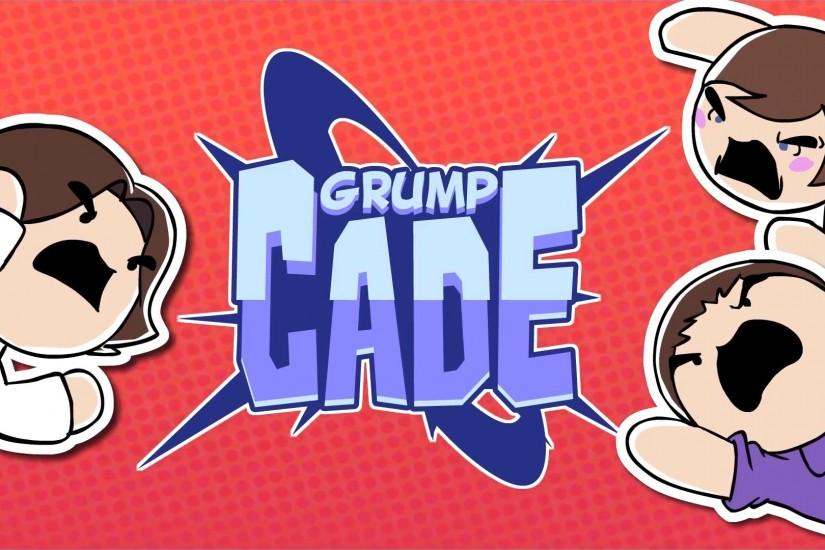 Grumpcade Title (Arin, Barry, and Ross)