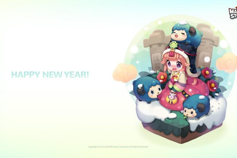 MapleStory2: New Year Themed Wallpapers Unveiled