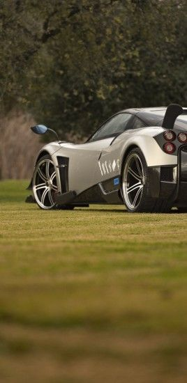 Pagani Huayra, Back View, Supercar, Cars, Black, Trees