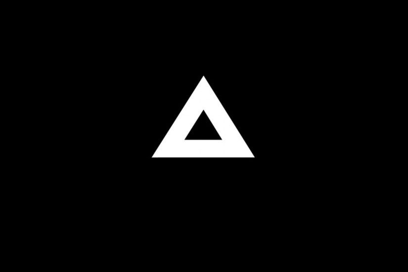 Triangle Minimalism Black - Tap to see more amazing black wallpapers! |  @mobile9