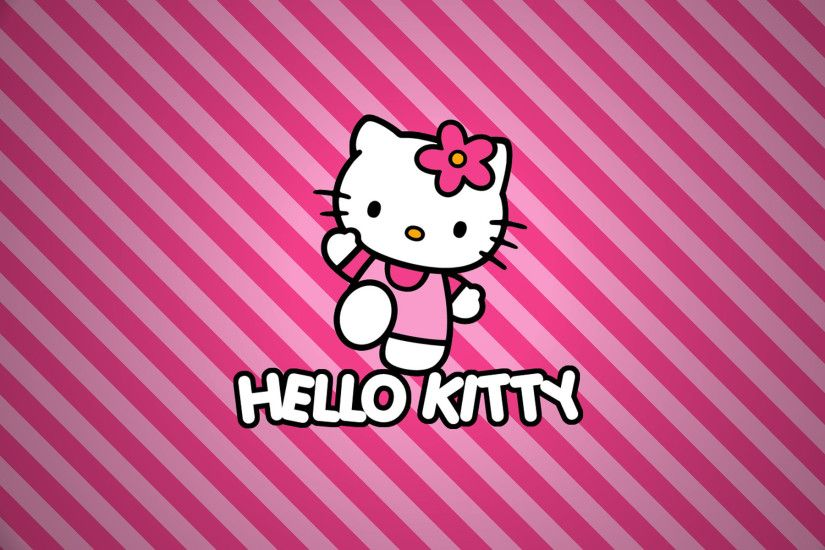 Pink Background Hello Kitty Wallpaper