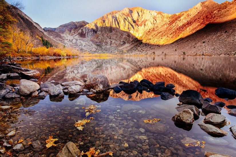 Surreal picture of the Convict Lake in Autumn photographed by the talented  American photographer - Clint Sharp · By his courtesy this wallpaper with  the ...