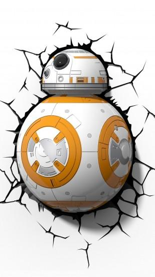 BB-8 in a wall - Star Wars: Episode VII - The Force Awakens Wallpaper