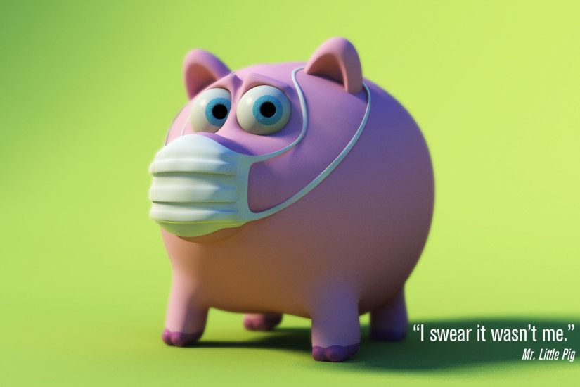 Little Pig Funny Wallpaper