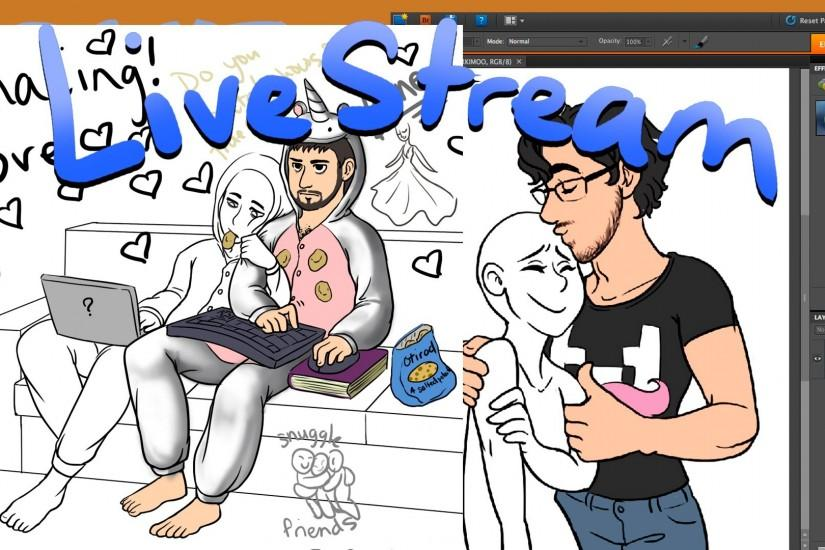 Lets Draw Markiplier/Game Grumps Live