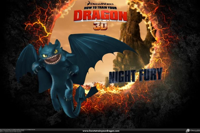 Night Fury Wallpaper - Toothless the Dragon Wallpaper .