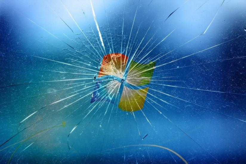 Cracked Windows Screen HD wallpaper background