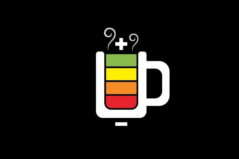 simple coffee java battery HD backgrounds