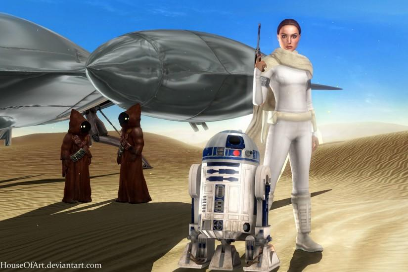 Star Wars - Padme Tatooine Wallpaper by ShaunsArtHouse