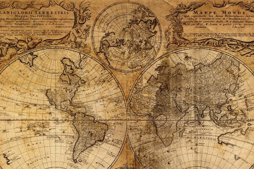450 x 253 Old Map 1 Other Amp Abstract Background Wallpapers On Desktop .,  antique-world-map-wallpaper on HdWallpapers